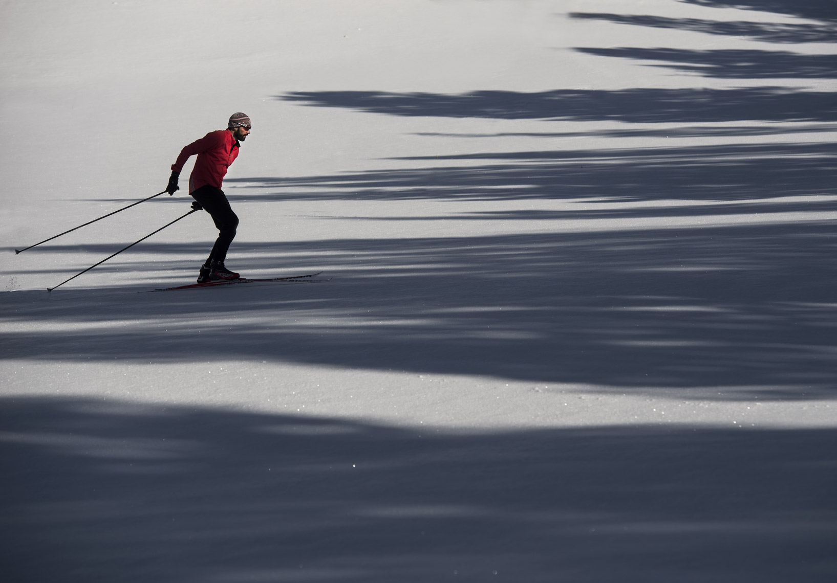 Cross country ski and shadows